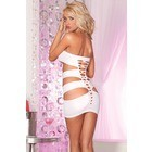 Nocturnal seamless mini dress White